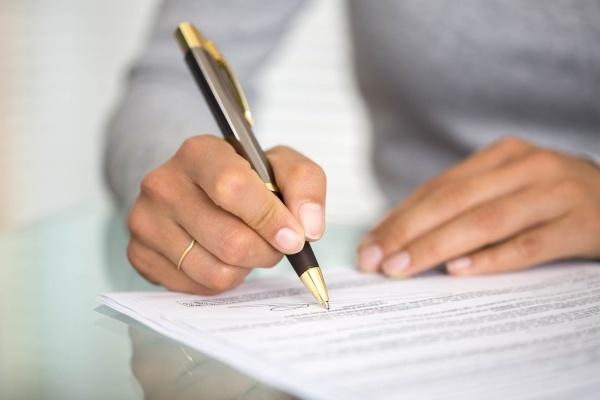 Подписание согласия на продажу квартиры