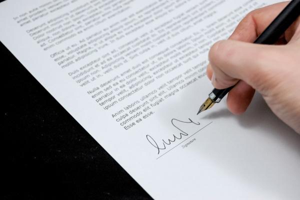 Подпись в конце письма