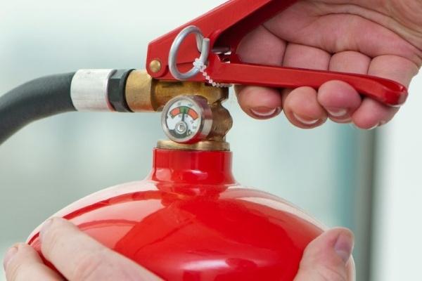 Индикатор давления в огнетушителе